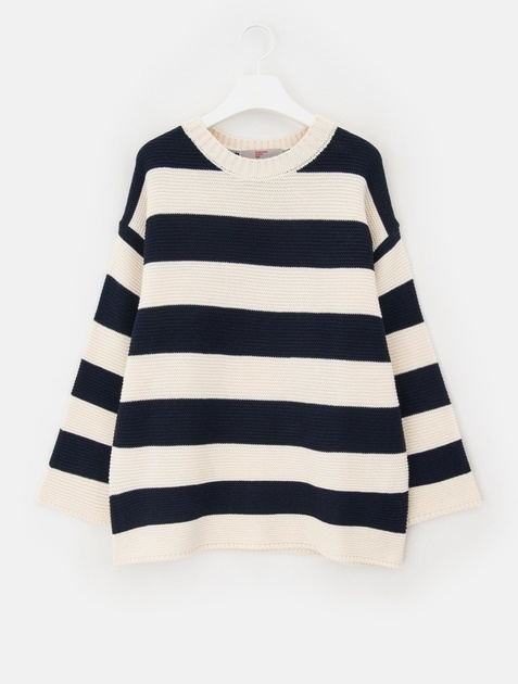 8SECONDS Stripe Waffle Knit - Ivory