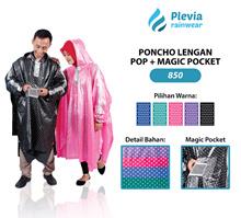 Jas Hujan Ponco Pop Plus Magic Pocket Plevia 850 Poncho Motor Unisex