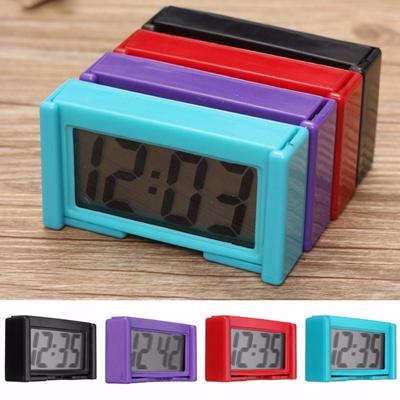 Shellhard Mini LCD Screen Digital Clock Car Dashboard Clock Desk Time Clock  Students Study Clocks Ho