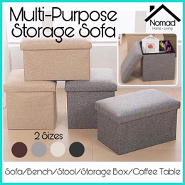 NOMAD Fabric Storage Box / Sofa Seat Stool Organizer Bench Home Living