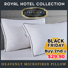 [BLACK FRIDAY DEAL] Royal Hotel Collection Heavenly Microfiber Pillow. Buy 2nd at $29.90