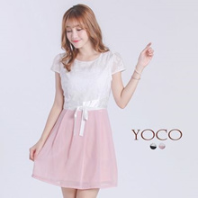YOCO - Rosette Dress with Ribbon-6018426-Winter