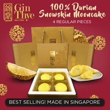 ★Best Seller! ★  [100% Durian Snow Skin Mooncake 4 Large size]