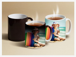 PERSONALIZED COLOR CHANGING MAGIC MUG BLACK COFFEE PHOTO PICTURE CUSTOMISED [CES0000643]