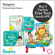 [PnG] [USE COUPONS!] BUY 3 CARTON GET 1 FREE FISHERPRICE TOY Baby Dry Diapers/Premium Care Pants/Tap
