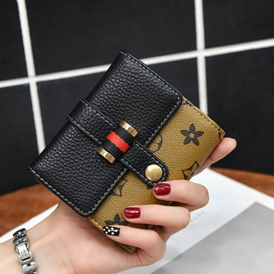 49e5a607f49 0 Wallet Short BI women folding small fresh Korean version mini wallet bag  three fold 2017 new tide