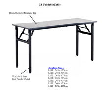 GS foldable table( Melamine top with Metal Leg ) -Light grey