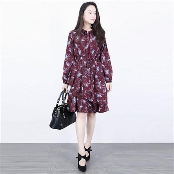 lr09エルケイトゥリボンカンカンワンピースLDH0622秋粗皮 ロング/マキシワンピース/ワンピース/韓国ファッション
