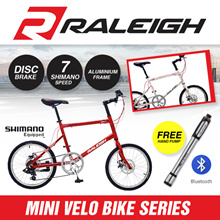 ⚡SPECIAL SALES⚡ [Raleigh] Mini Velo Bike Series. Compact 20 inches. Disc Brake. Shimano Gear