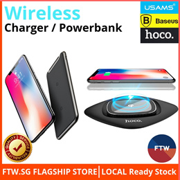 ⭐100% Authentic ⭐Baseus USAMS Wireless Charger / PowerBank For iPhone Xs/Xs Max/XR/Huawei Mate 20