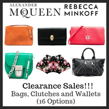 Alexander McQueen and Rebecca Minkoff Clearance Sale!!!