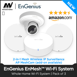 WORK FROM HOME!! ENGENIUS 3 Pcs Bundled (CORPORATE STANDARD) Whole-Home Wi-Fi Mesh System - Model  AC3500 / AC5000 - Local Stocks and Local Warranty!