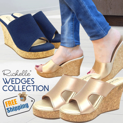 NEW Richelle Wedges Gold series Deals for only Rp183.000 instead of Rp183.000