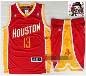 best sneakers 28b75 54436 Rockets jersey on the 7th Lin 12 13 Howard Harden a retro red shorts  McGrady Basketball Uniforms