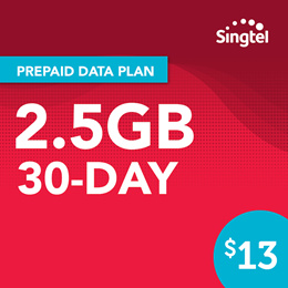 Singtel Data Package - 2.5GB (4 weeks)