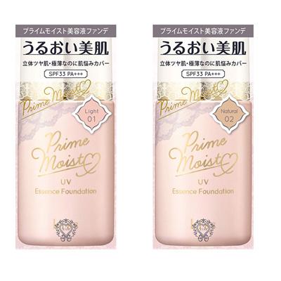kiss Prime Moist UV Essence Foundation Light / Natural 27ml 女人我最大★Direct from Japan★