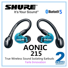 Shure AONIC 215 True Wireless Sound Isolating Earbuds Premium Audio Sound with Deep Bass Bluetooth