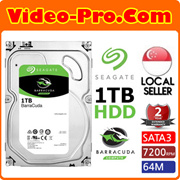 Seagate ST1000DM010 BarraCuda 1TB 7200 RPM 3.5Inch SATA 6Gb/s Hard Drive with 64MB Cache. 2 Years Warranty!