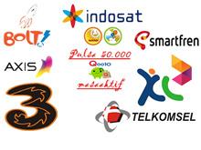 Pulsa Telkomsel / xl / Indosat / Tri / Axis / Smartfren 50.000 + MASA AKTIF