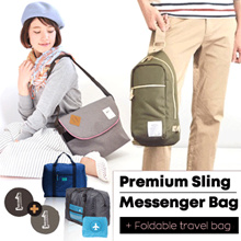 CUCI GUDANG !!! Buy 1 Get 1 Free/ Buy  ANELLO Sling Bag - Shoulder Bag Get FREE foldable travel bag
