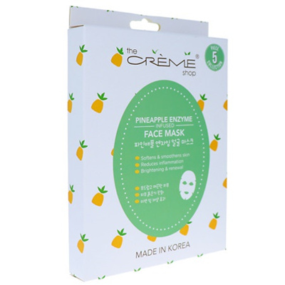 Pineapple Enzyme Infused Face Sheet Mask - 1 Count by The Creme Shop (pack of 3) Robert Research Labs, Collagen Care, For the Skin, 7.5 fl oz (pack of 6)