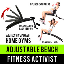 ⏰💪★Incline Decline Foldable Work Out Bench★Push Pull Sit up★Weight Dumbbell Barbell Press★SG Seller