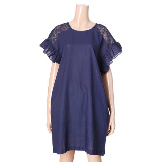 オチョク肩のラインパンチングワンピース71553181 面ワンピース/ 韓国ファッション