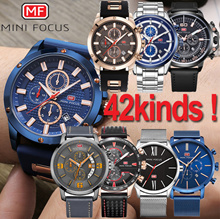 [Mini Focus] Jun Restock ★42STYLE★The best mens mesh leather metal wrist watch/sports chronograp