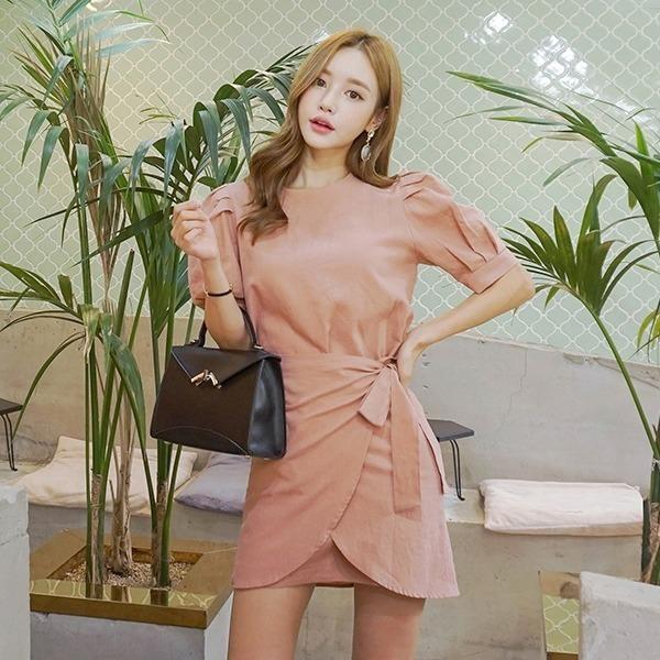 オードリー・バルーン・ワンピースnew 無地ワンピース/ワンピース/韓国ファッション