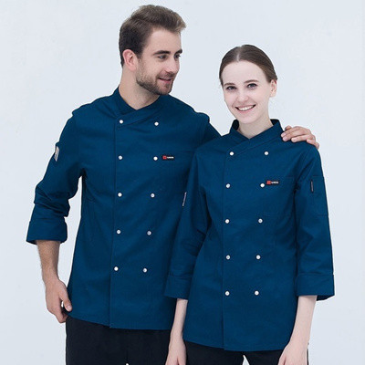 los angeles 6c689 200b6 Long Sleeve Chef Uniform Cook Uniform Cook Wear Chef Clothing Chef Top  Black Chef Services