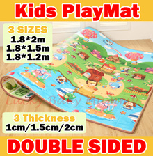 ★Anti-Slip★【Thickness 2cm/1.5cm】Waterproof Kids Playmat/ playing mat /mattress / playgym/Carpet/Tata