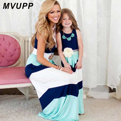 35e573670b40b mommy and me dresses Family matching clothes striped mother daughter baby  girl toddler Family look s