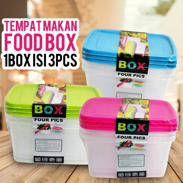 GET 3 PCS!! Tempat makan / Food 1 Box 3 Pieces Deals for only Rp30.000 instead of Rp30.000