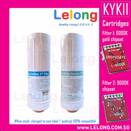 KYK Alkaline Water Ionizer Water Filter Cartridges Filter 1 and Filter 2 RED Chipset 6000K 9000K