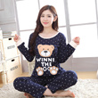 Variety of autumn long-sleeved cotton cartoon Korean version of casual loose cotton tracksuit Pyjamas