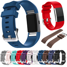 FOR fitbit charge 2 band strap Diamond Silicone watchbands For Fitbit charge 2 bracelet