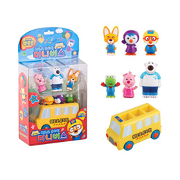 ★2015 Pororo ★Pororo Mini Bus Toy (included mini Pororo with friends figure)