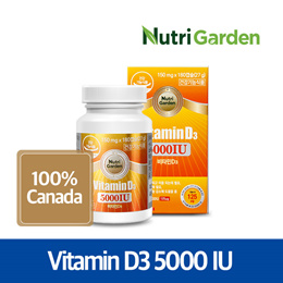 Vitamin D3 5000IU (150mg X 180 Softgels) / 125ug / For 6 months / Canada