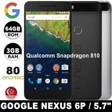 (MAKE $179) Google Nexus 6P / 3GB RAM / 64GB / 128GB ROM / Android 8.0 / 5.7 inch / Limited sets