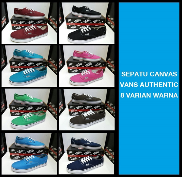 SEPATU CASUAL CANVAS UNISEX VANS AUTHENTIC 6 VARIAN WARNA Deals for only Rp420.000 instead of Rp420.000