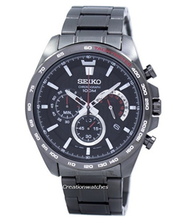 [CreationWatches] Seiko Chronograph Quartz Tachymeter SSB311 SSB311P1 SSB311P Mens Watch