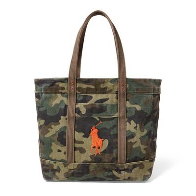 c5adeaa91f Qoo10 - Polo Ralph Lauren Camo Canvas Big Pony Tote   Bag   Wallet