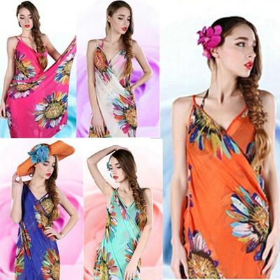 252e3133af Women Sexy Chiffon Bikini Cover Up Beach Swimwear Dress Scarf Pareo Sarong  Wrap Lady & Gent