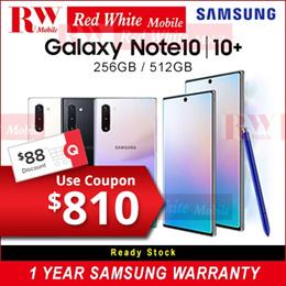 Samsung Note 10 256Gb  /Note 10+ 256GB/512GB|Samsung Singapore 1 Year Warranty