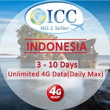 ◆ICC◆【Indonesia SIM Card·3-10 Days】❤Telkomsel / XL/Indosat ❤4GLTE + Unlimited Data❤Telkomsel