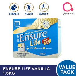 [Abbott] Ensure Life Vanilla 1.6kg Value Pack (Refill packs) - For Singapore Market