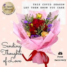 Roses / Carnation Flower Bouquet fr $38 ✽ Mothers Day Birthday Gift Graduation Anniversary ✽