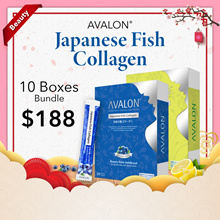 $188 10 MONTHS SUPPLY! Premium Japanese Fish Collagen + Vitamin C + Probiotics (2 Flavors)