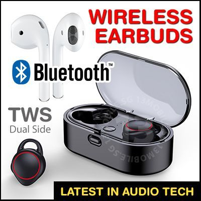 Baseus Awei Remax True Wireless Bluetooth Twin Stereo Premium Earbuds Earphone Earpiece Headphone Deals for only S$29.8 instead of S$0