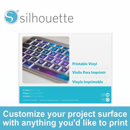 It's just an image of Silhouette Printable Vinyl in labels